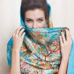 Silk Satin Digital Print Scarf