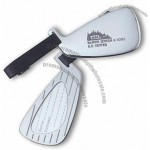 Silver Golf Club Luggage Tag
