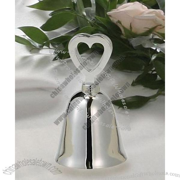 Buy Silver Plated Wedding Bell Place Card Favors Online Wholesale Price 296387402