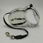 Silver Retractable Pet Leash