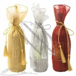 Silver, Ruby and Gold Wine Bags