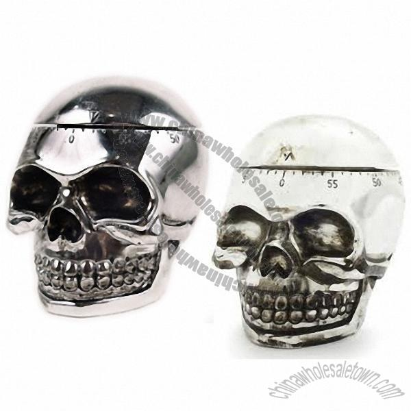 Delightful Loading Zoom. Product Name: Silver Skull Kitchen Timer
