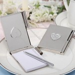 Silver Toned Luxury Memo Pad and Pen