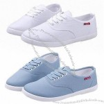 Simple Ladie's Canvas Shoe with Classic Design, Made of Canvas Upper