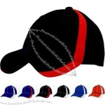 Six panel constructed sports double side trim cap with velcro strap closure