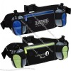 Sleek Water Resistant Sports Waist Pack with Dual Bottle Holders