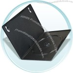 Slim DVD/CD case with vinyl slip to hold outer inserts and inside clip.