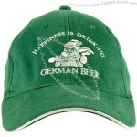 Small Fitted Happiness is Drinking German Beer Baseball Hat