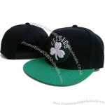 Snap Back Cap, Fashion Green Cotton Baseball Hat