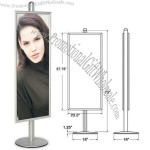 "Snap Frame - Banner Pole Vertical Display Stand 22""x 56"""
