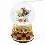 Snow Ball Music Boxes with Teddy Design