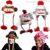 Sock Monkey Ski Style Bomber Hat w/ Poly Fleece Lining