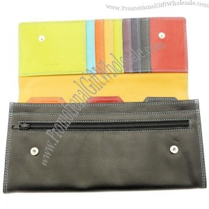 Soft Leather Travel Wallet Travel Document Holder For Passports Tickets Travellers Cheques