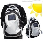 Solar Battery Gadget-charging Backpack