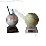 Solar Globe with Pen Holder