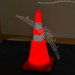 Solar Glowing Retractable Traffic Cone