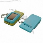Solar Light Keychain with Whistle