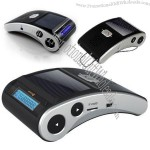 Solar Powered Bluetooth Car Kit with Multilayer LCD Screen Displays