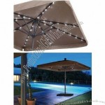 Solar Remote Control Electric Umbrella with LED Lamp