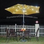 Solar Umbrella with 6 Ribs and 30/36 LEDs Which Can Lasts 8 Hours