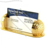 Solid Brass Golf Ball Business Cardholder