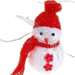 Solid Foam Colorful Snowman String Christmas Tree Ornament