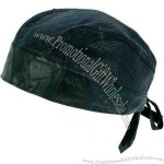 Solid genuine leather perforated skull cap.