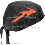Solid genuine leather skull cap with orange flames