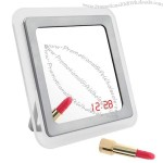 Sound Control Mirror Table Alarm Clock with Data Display