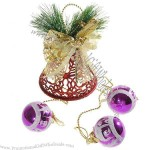 Soundless Bell with Ball Pendants Christmas Tree Ornament