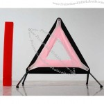 Special locking system on legs ABS material reflective emergency warning triangle