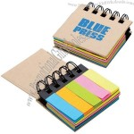 Spiral Notebooks with Sticky Note Flags