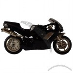 SPORT BIKE MINI DESK CLOCK (BLACK)