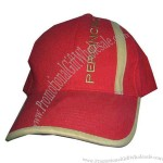 Sport style baseball cap with fitted closure.