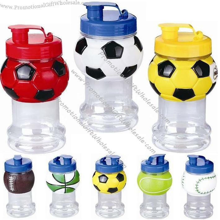 Sports Ball Water Bottle With Straw Basketball Soccer