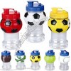 Sports Ball Water Bottle with Straw - Basketball, Soccer, Football, Baseball, Tennis Ball