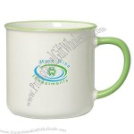 Spring 12 Oz. Mug with Colored Rim and Handle
