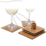 Square Bamboo Coaster Set