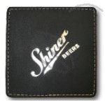 Square Biker's Black Coaster