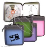 Square press proof hard CD/VCD/DVD case with handgrip belt, holds 28 CD's.