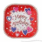 Square Shape Eco-Friendly Party Birthday Plate