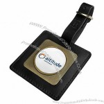 Square Shaped Leather Bag Tag