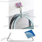 Square Silkscreen Purse Hanger with Crystal Options