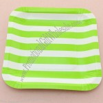Square Striped Picnic BBQ Paper Plates