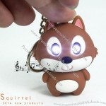 Squirrel LED Keychain with Sound