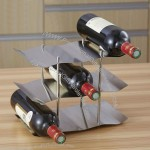 Stainless Steel 3-Layer Wine Rack