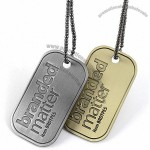 Stainless Steel Custom Dog Tags - Antiqued
