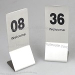 Stainless Steel Desktop Number Plates