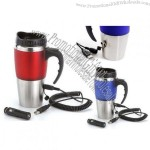 Stainless Steel Dual USB & 12V Heated Travel Mug