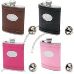 Stainless Steel Liquor Hip Flask with Color Leather